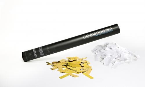 50cm Weiß Papier gold metallic